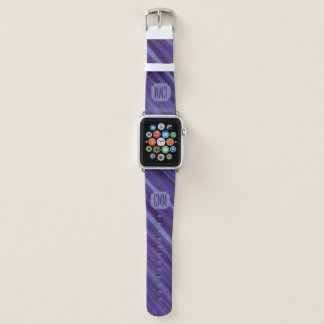 Gleichgültiges Monogramm-lila violette Flieder des Apple Watch Armband