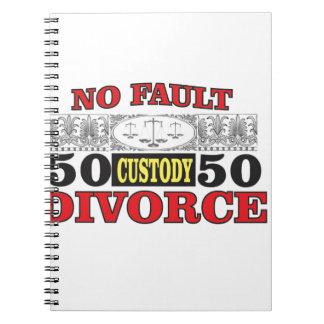 Gleichheit 50 der fehlerlosen Scheidung 50 Notizblock