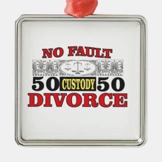 Gleichheit 50 der fehlerlosen Scheidung 50 Silbernes Ornament