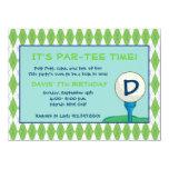 Gleichheit-T-Stück Zeit-Junge 14 X 19,5 Cm Einladungskarte