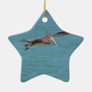 Gleitener Pelikan Keramik Stern-Ornament