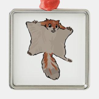 Gleithörnchen Silbernes Ornament