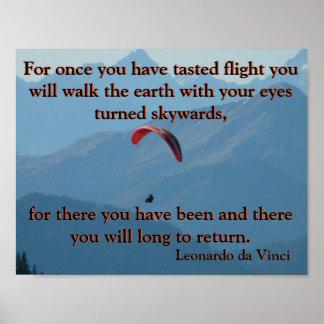 Gleitschirmfliegen Da Vinci Poster