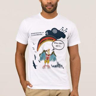 Gleitschirmfliegen-Geier-Cartoon T-Shirt