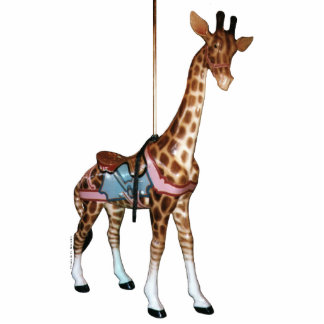 Glen-Echo-Karussell-Giraffen-Foto-Skulptur Freistehende Fotoskulptur