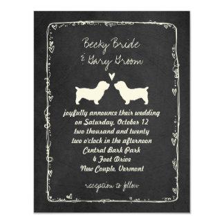 Glen von Imaal Terriern, die Save the Date Wedding Karte