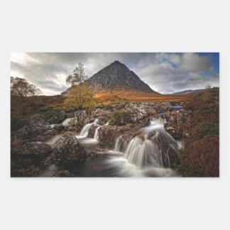 Glencoe, Buchaille Etive MOR, Schottland Rechteckiger Aufkleber