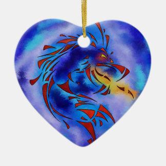 Glenfbach V1 - mystischer Drache Keramik Herz-Ornament