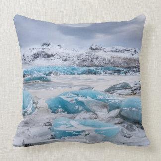 Gletscher-Eislandschaft, Island Kissen