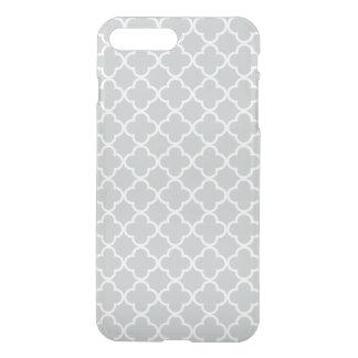 Gletscher-graues Weiß Quatrefoil Marokkaner-Muster iPhone 8 Plus/7 Plus Hülle