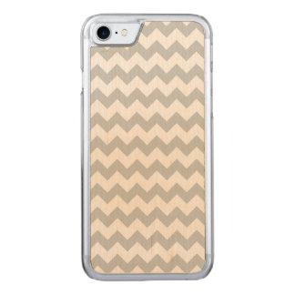 Gletscher-graues Weiß-Zickzack Muster Carved iPhone 8/7 Hülle