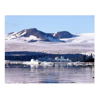 Gletscher in Svalbard Postkarte