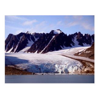 Gletscher in Svalbard, (Spitzbergen) Postkarte