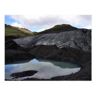 Gletscher-Reflexion, Südisland Postkarte