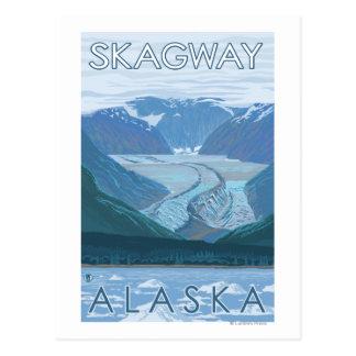 Gletscher-Szene - Skagway, Alaska Postkarte