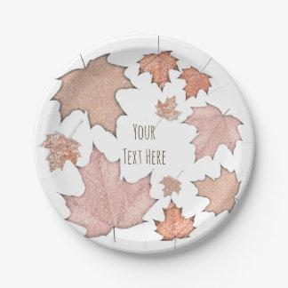 Glitter-Ahorn-Herbstlaub-goldenes Herbst-Party Pappteller