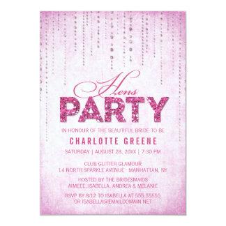 Glitter-Blick-Henne-Party Einladung 12,7 X 17,8 Cm Einladungskarte