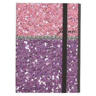 Glitter-Blick-Rosa-lila Kristall personalisiert