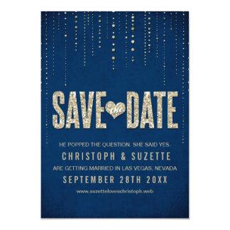 Glitter-Blick-Save the Date Mitteilung Personalisierte Einladungen