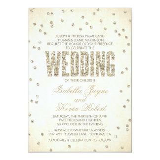 Glitter-Blickconfetti-Hochzeits-Einladung