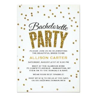 Glitter-Blickconfetti-Junggeselinnen-Abschied 12,7 X 17,8 Cm Einladungskarte
