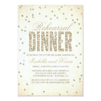 Glitter-Blickconfetti-Proben-Abendessen-Einladung