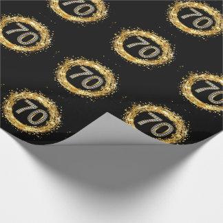 Glitter Bling Confetti | der Diamant-Zahl-70 Gold Geschenkpapier