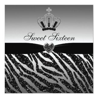 Glitter Bonbon16 Prinzessin-Crown, Herzens u. Quadratische 13,3 Cm Einladungskarte