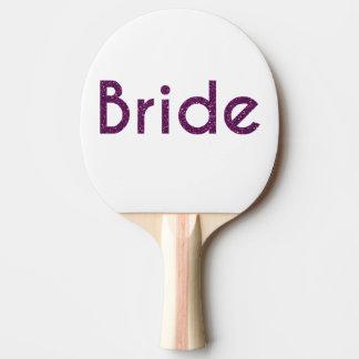 Glitter-Braut lila Tischtennis Schläger