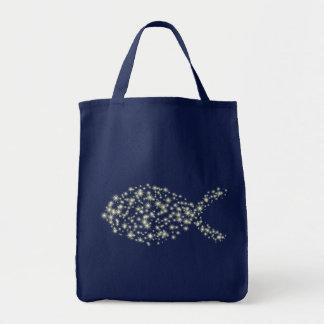 Glitter-christliches Fisch-Symbol Einkaufstasche