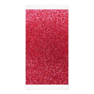 Glitter des hochroten Rotes Fotokarten