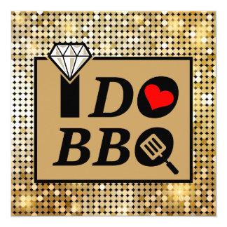 Glitter-Diamant-Hochzeits-Proben-Abendessen Quadratische 13,3 Cm Einladungskarte