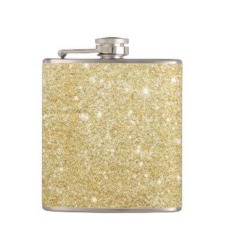 Glitter-glänzendes Luxusgoldenes Flachmann