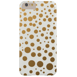 Glitter-Goldconfetti-Punkte Barely There iPhone 6 Plus Hülle