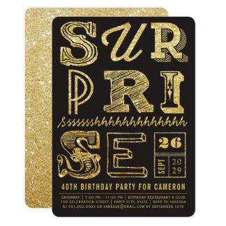 Glitter-Kunst-Deko-Überraschungs-Party-Geburtstag Karte