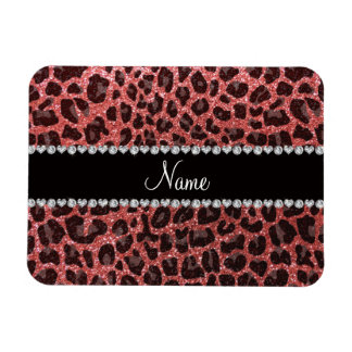 Glitter-Leoparddruck des individuellen Namens Magnete