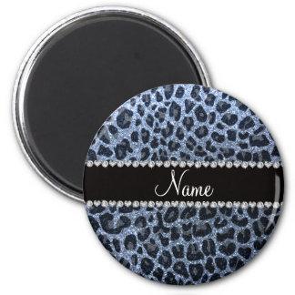 Glitter-Leopardpastelldruck des individuellen Magnete
