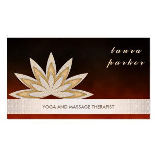 Glitter-Lotos-Blumen-Logo-Yoga-heilende Gesundheit Visitenkarten