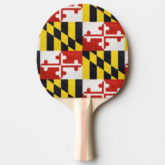 Glitter-Maryland-Flagge Ping pong Paddel Tischtennis Schläger