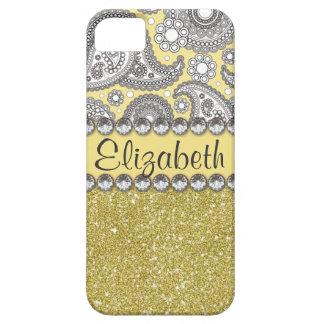 Glitter-Paisley-diamante de imitación-Druck-Muster Hülle Fürs iPhone 5