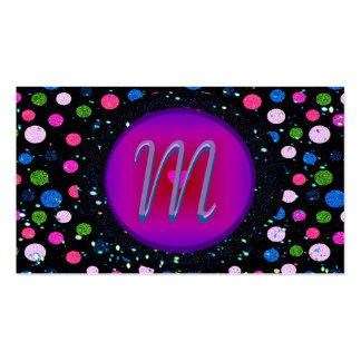 Glitter-Party-Monogramm Visitenkarten