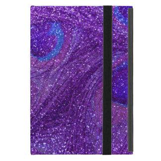 Glitter-Pfaufedern des Indigos lila iPad Mini Etuis