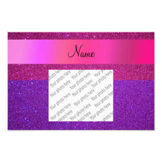 Glitter-Rosastreifen des individuellen Namens rosa Kunstfotos