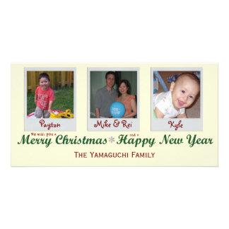 Glitter-Schneeflocke-frohe Weihnacht-Foto-Karte Bilder Karten