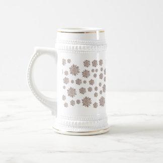 Glitter-Schneeflocken Bierglas