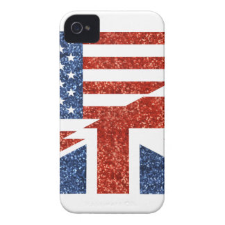 Glitter USA britisch iPhone 4 Cover