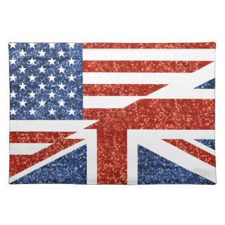Glitter USA britisch Stofftischset