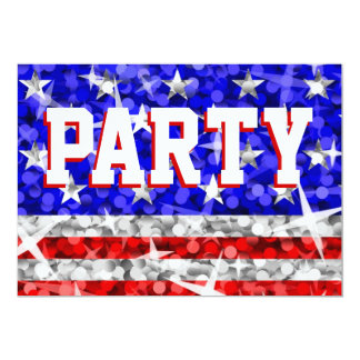 """Glitter USA-""""Party"""" Einladung"""