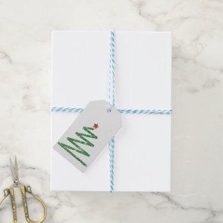 Glitter-Weihnachtsbaum Geschenkanhänger