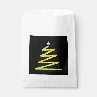 Glitter-Weihnachtsbaum Geschenktütchen